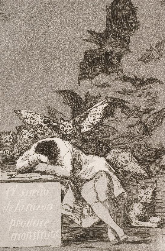 Goya - Le Sommeil de la raison engendre des monstres